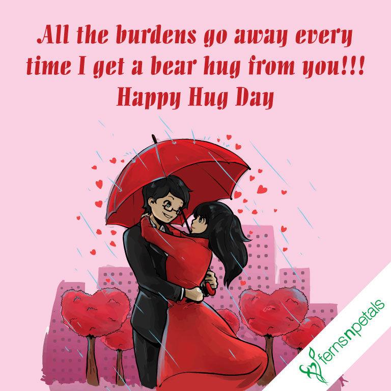 best hug day wishes
