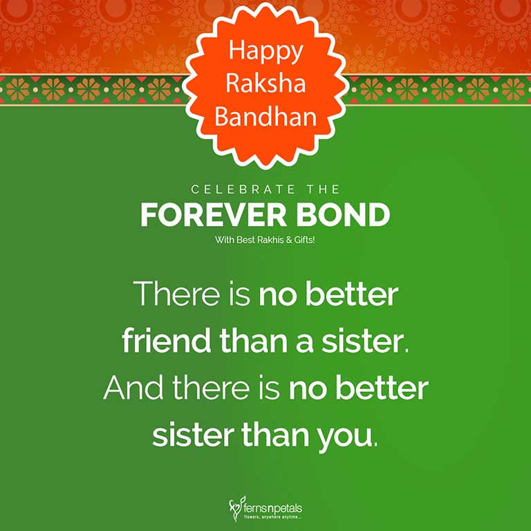 rakshabandhan quote for sister