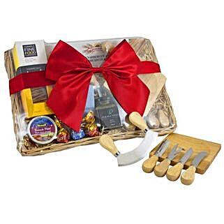 Cheese Set Picnic Basket: Send Gift Baskets to Australia