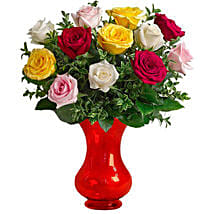Dozen Assorted Roses: Send Miss You Flowers to Australia