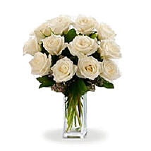 Dozen White Roses: Just Because Flower in Australia