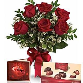 Half Dozen Roses With Chocolates: Love Gifts to Australia