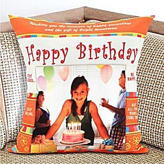 Happy Birthday Personalized Cushion: Send Birthday Gifts to Australia