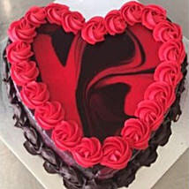 Heart Shaped Red Marble Cake: Valentine's Day Gifts to Australia