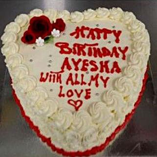 Heart Shaped Vanilla Cake: Romantic Gifts to Australia