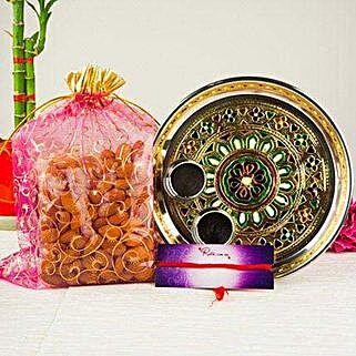 Mix Dry Fruits In Meenakari Thali: Bhai Dooj Gift Delivery in Australia