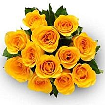 12 Yellow Roses: New Born Baby Flowers in Canada