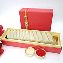 Beautiful Rakhi And Kaju Katli 225gms Combo: Send Rakhi to Canada