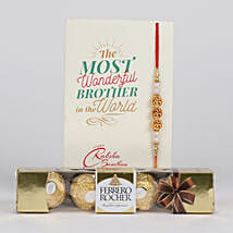 Charming Rakhi With Ferrero Rocher: Rakhi Delivery in Canada