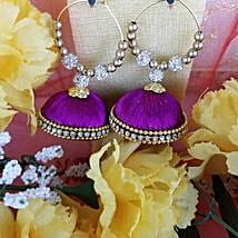 Embellished Thread Earrings: Designer Jewelry to Canada