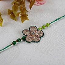 Green Floral Rakhi: Send Rakhi to Calgary