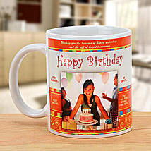 Happy Bday Personalized Mug: Birthday Gifts to Canada