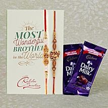 Pair Of 2 Rakhi And Dairy Milk: Send Rakhi for Kids to Canada