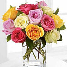 Rose Fest Arrangement: Miss You Flowers to Canada