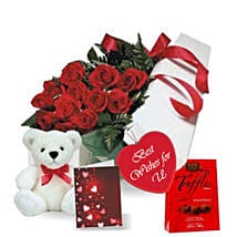 Rose Gift Box Combo: Send Birthday Flowers to Canada