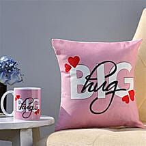 The Big Hug Coffee Mug and Cushion Combo: Personalised Gifts Canada