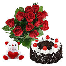 Valentine Black Forest Combo: Flower Delivery in Canada