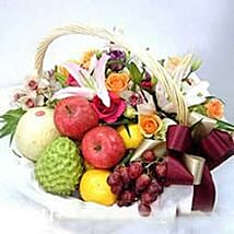 Flower fruit basket CIN: Wedding Gifts to China