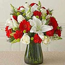 Red n white Vass arrangement CIN: Anniversary Gift in China