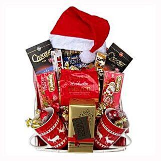 Santa Christmas Tea Basket: Gifts to France