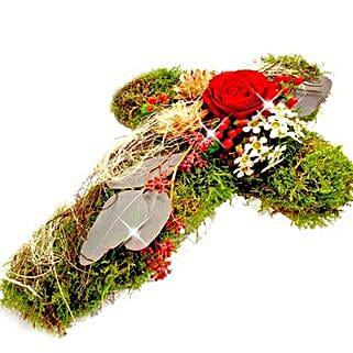 Cross Funeral Arrangement: Birthday Gifts to Frankfurt