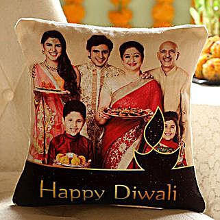 Personalised Diwali Wishes Family Cushion