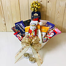 Santa Chocolate And Dry Fruits Hamper: Christmas Gifts to Germany