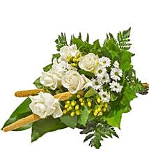 Sympathy Bouquet in White: Send Flowers to Germany