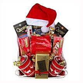 Santa Christmas Tea Basket: Corporate Gifts to Greece