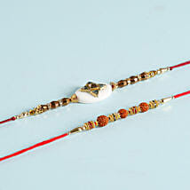 Exquisite Set Of 2 Designer Rakhis: Set Of 2 Rakhi To Indonesia