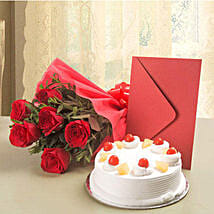 Roses N Cake Hamper: Gifts to Indonesia
