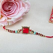 Square Pink Rakhi: Send Rakhi to Israel