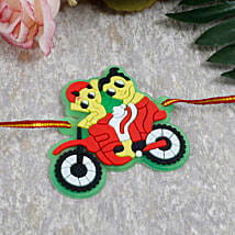 Ganesha Ride Cartoon Rakhi: Send Rakhi to Italy