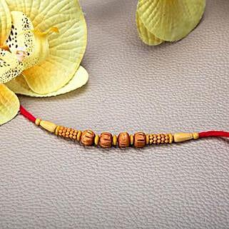 Wooden Beads Rakhi: Rakhi Delivery in Lebanon