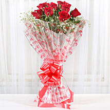 10 Red Roses Exotic Bouquet: Flowers to Bengaluru