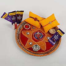 2 Rakhis And Cadbury Chocolates Combo: Rakhi Gifts to Jaipur