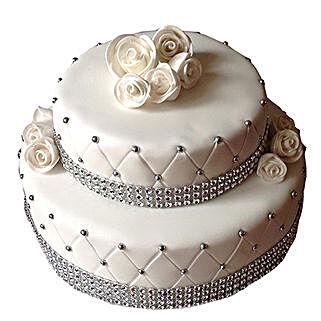 2 Tier Designer Fondant Cake: Premium Cakes
