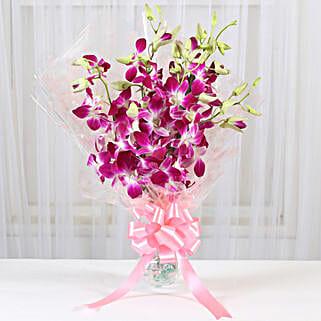 6 Royal Orchids Bunch: Send Orchids