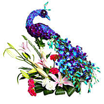 Adorable and Charming Peacock: Flower Arrangements