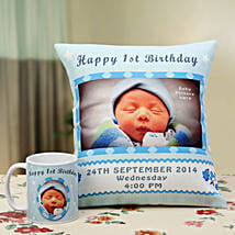 Angelic Dreams Personalized Combo: Send Personalised Cushions for Husband