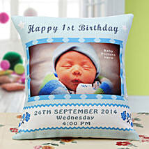 Baby Announcement Personalized Cushion: Send Personalised Mugs for Kids