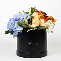 Beautiful Black Box of Mixed 9 Exotic Flowers: Exotic Flowers