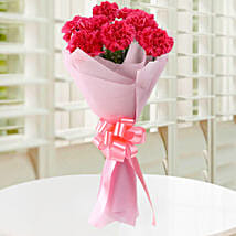 Beautiful Pink Carnations Bouquet: Miss You Flowers