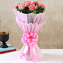 Beautiful Pink Carnations Bouquet: Send Birthday Flowers to Noida