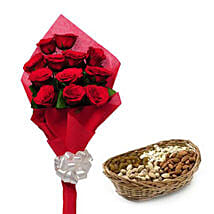 Best wishes for you: Flowers & Dry Fruits