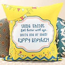 Birthday Message Cushion: Birthday Gifts for Sister
