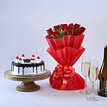 Black Forest and Flowers: Midnight Delivery Gifts