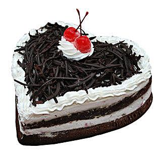 Black Forest Heart Cake: Heart Shaped Cakes for Birthday