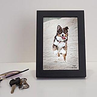 Black Rectangular Wooden Photo Frame: Personalised Photo Frames