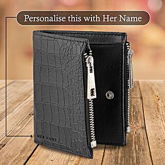 Black Zipper Wallet Pouch: Buy Wallets